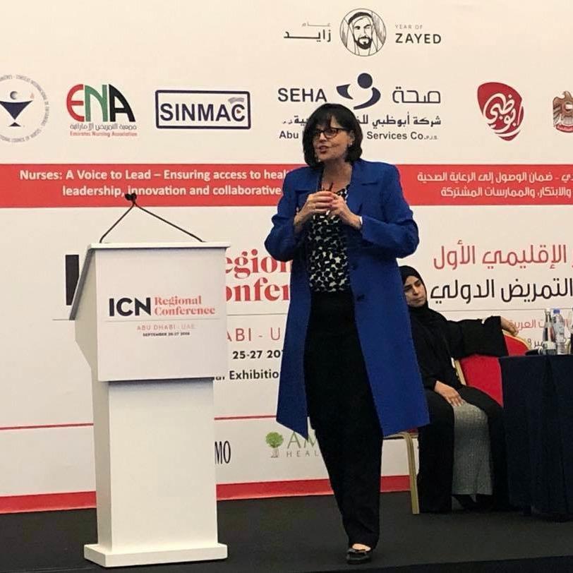 Kathleen Vollman speaking at ICN Regional Conference